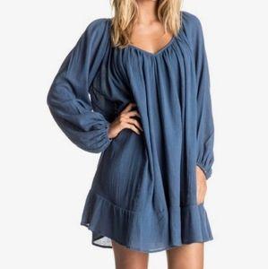 New Roxy Watch Tower Blue Dress S